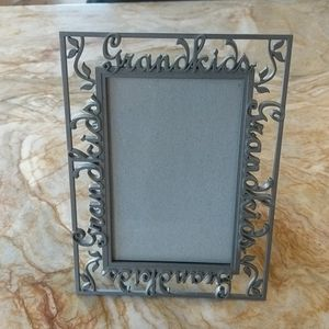 Pewter 4x6 picture frame says Grandkids